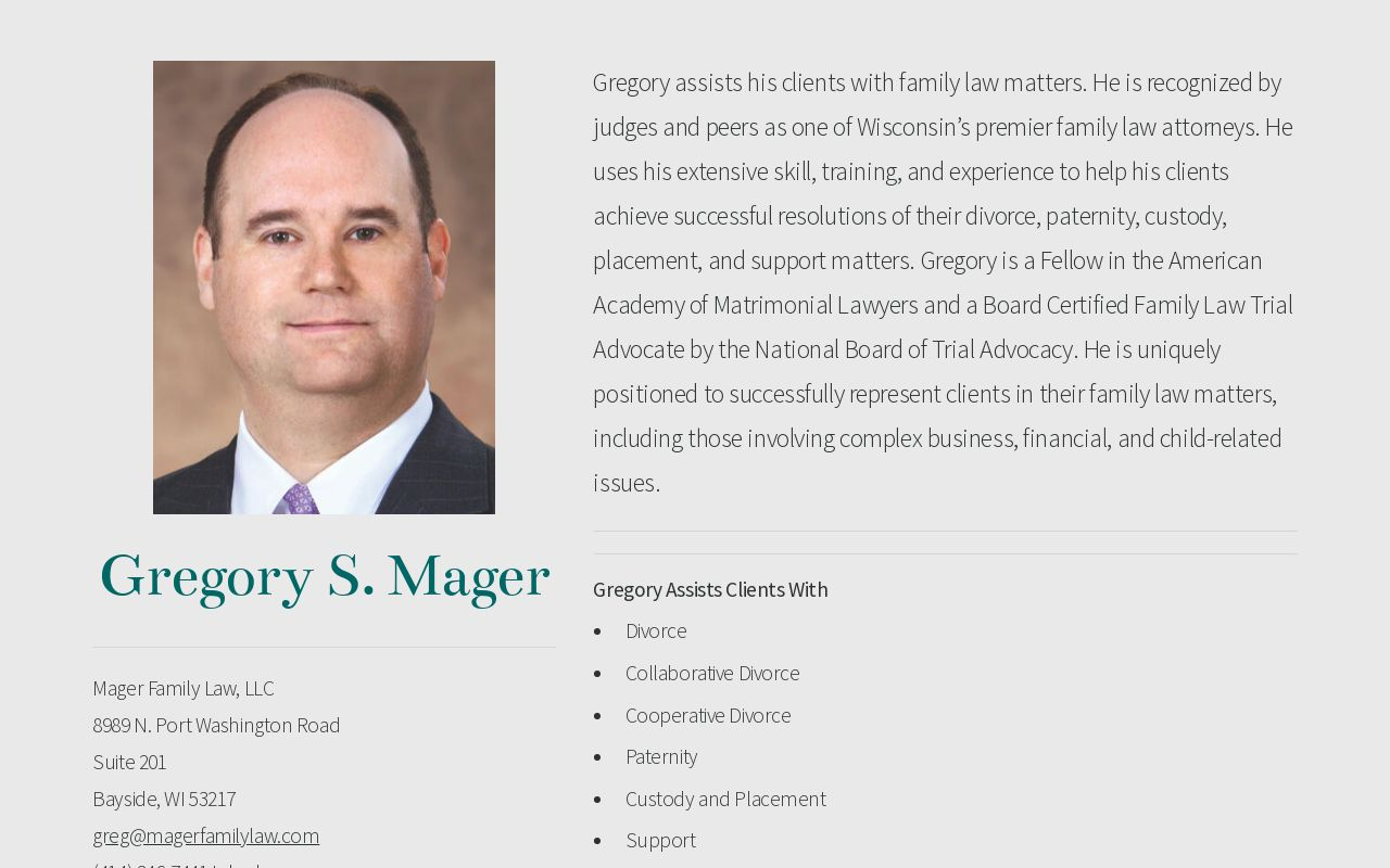 Gregory S  Mager